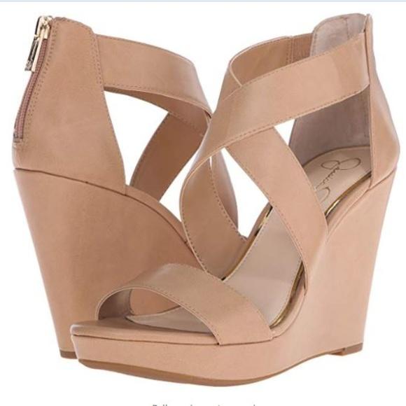 0774d1da706bd Jessica Simpson Women's Jinxxi Wedge Sandal Size 8